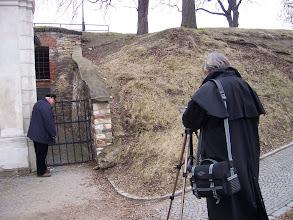 Photo: ... ztracený kostel Stětí sv. Jana Křtitele, zazděný do obranného valu bastionu.