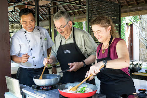 Indonesia. Bali Cooking Class. Fun time under Chef Mangde's cooking class