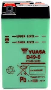 MC batteri YUASA 6V 8Ah