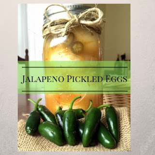 Jalapeno Pickled Eggs.