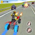 ATV Quad Bike Traffic Racer: Bike Shooting Games icon