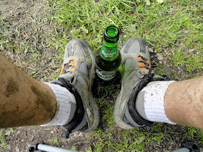 Photo: A well-deserved beer...