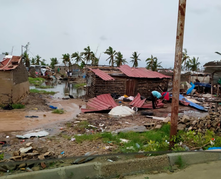 View of the damage after Tropical Cyclone Eloise, in Beira, Mozambique January 23, 2021 in this social media image obtained by REUTERS.