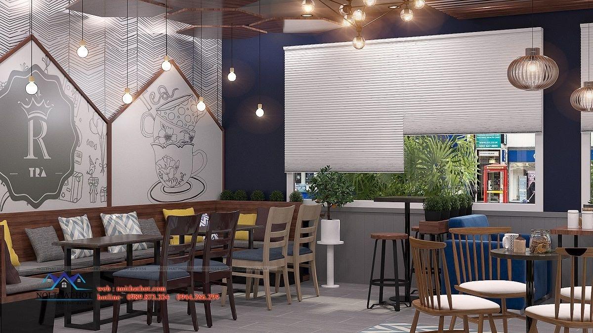 thiết kế quán trà sữa royal tea 8