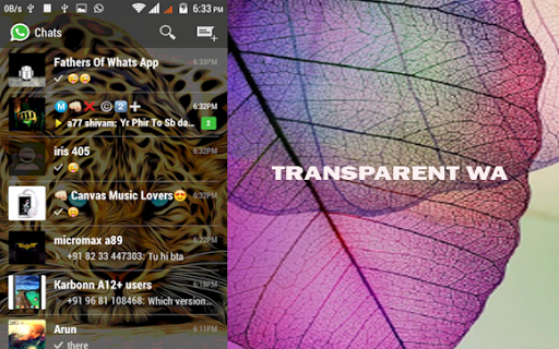 Whats Transparent App 2016