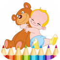 Kids Coloring Book and Game icon