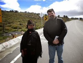 Photo: Brian poses with our new friend, an alpaca farmer in Apagua, Ecuador.