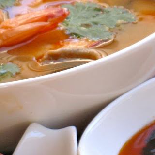 Tom Yum Goong (Thai Hot and Sour Soup with Prawns).