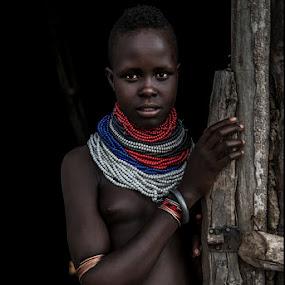 Girl Kara by Damjan Voglar - People Portraits of Women ( portrait girl tribe africa travel kara )