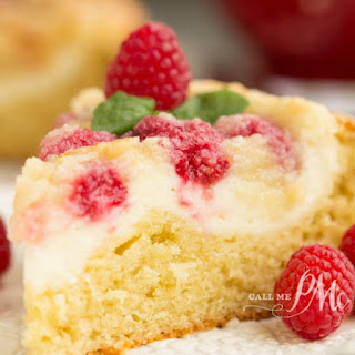 Raspberry Streusel Cream Cheese Coffee Cake.