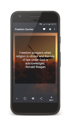 Freedom Quotes 1.0 screenshots 1