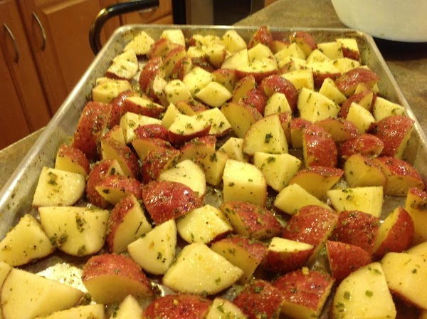 Spread into a single layer on prepared baking pan. Then place into  PREHEATED...