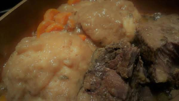 Short Ribs With Beef Gravy And Dumplings--bonnie's Recipe