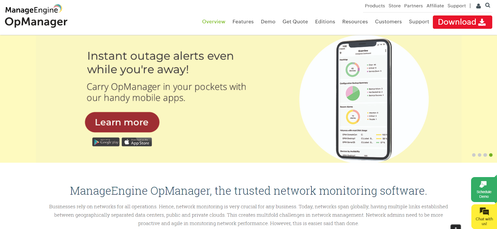ManageEngine Server monitoring software