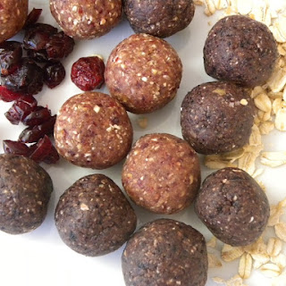 Cranberry and Blueberry Crunch Energy Balls