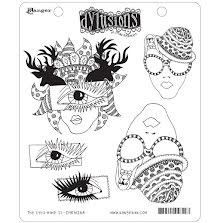 Dylusions Cling Stamps 8.5X7 - The Eyes Have It