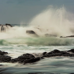 Angry Ocean by Matthew Wood - Landscapes Waterscapes ( waves, sea, long exposure, sunrise, morning )