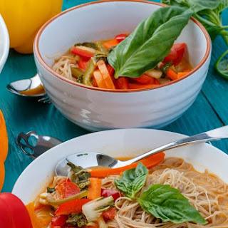 Slow Cooker Coconut Curry Soup (Vegan).