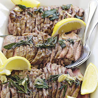 Grilled Veal Loin with Rosemary and Garlic.