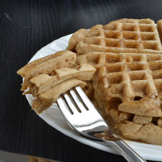 Earl Grey Almond Milk Waffles 3 servings.