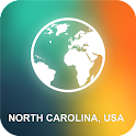 North Carolina, USA Map icon