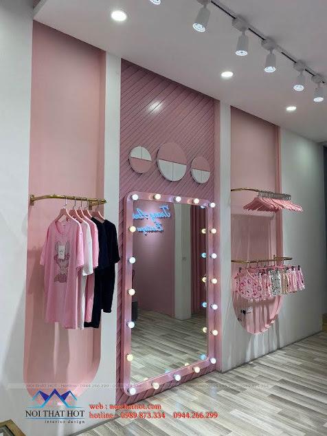 gia công nội thất shop thời trang