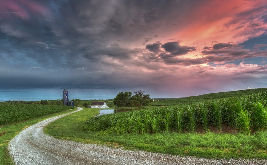 Countryside by Ken Smith - Landscapes Cloud Formations ( sunset, thunderstorm, landscape, sarpy county )