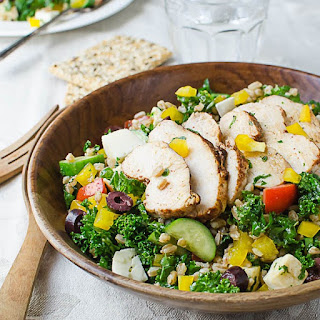 Chicken Kale and Farro Salad