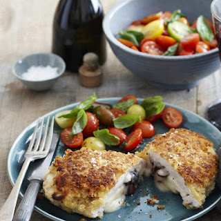 Mozzarella and Olive Stuffed Chicken