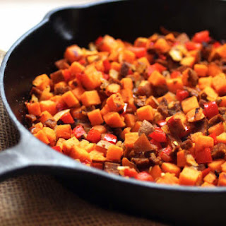 Vegetarian Sweet Potato and Chorizo Hash