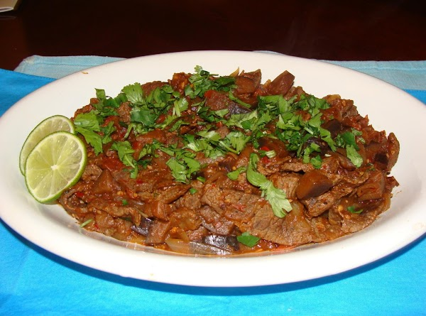 Lime Beef With Eggplant Recipe