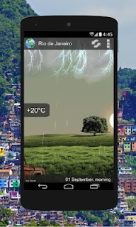Animated Weather Widget, Clock screenshot 00
