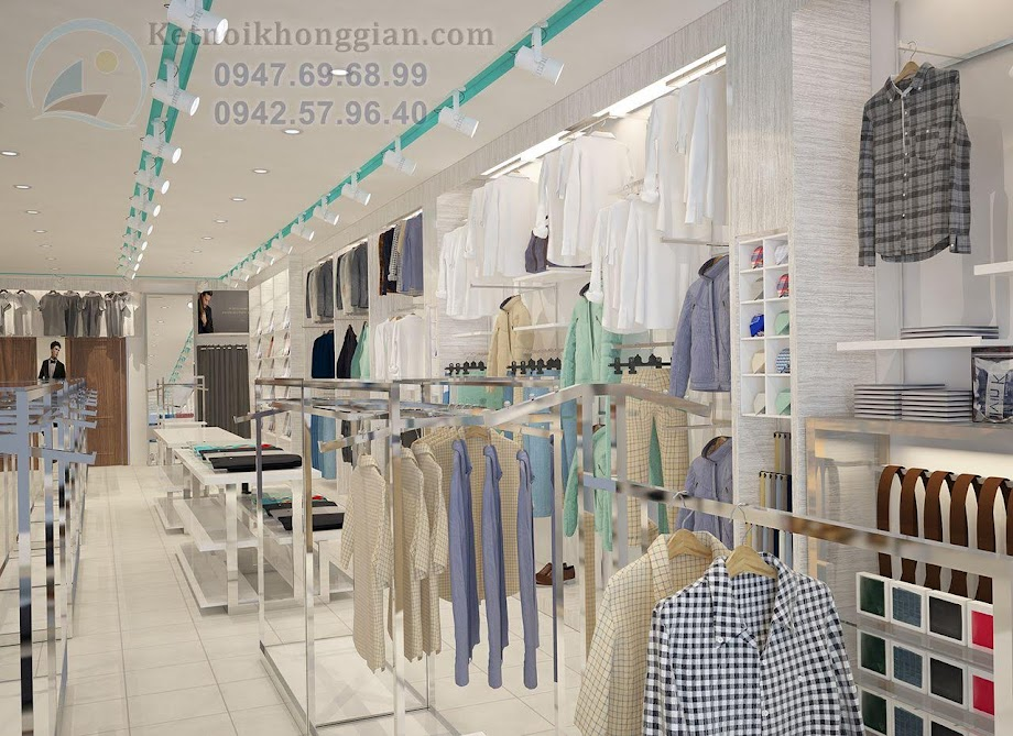 thiết kế shop quần áo đẹp và thông minh