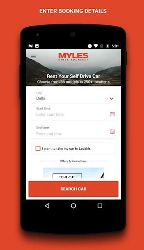 myles - self drive car rental screenshot 1
