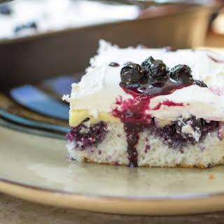 Blueberry Lemon Poke Cake.