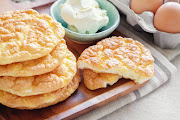 Low-carb cloud bread has a light and airy texture, hence its name.