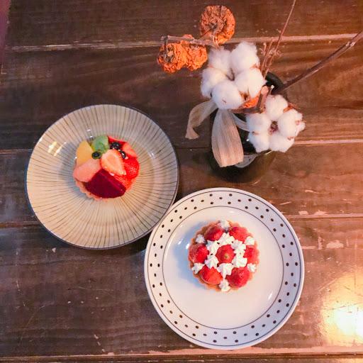 草莓塔非常紮實 好吃