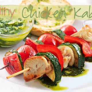 Healthy Chicken Kabobs.