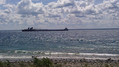 Photo: Heading west from Mackinac Island