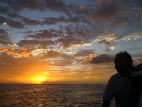 Photo: Karayip Denizinde güneş batıyor. Sunset in The Caribbean Sea