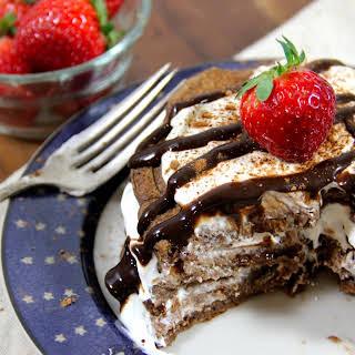 Healthy (Vegan) Tiramisu Protein Pancakes.