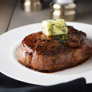 Pan-Seared Filet Mignon with Garlic & Herb Butter.