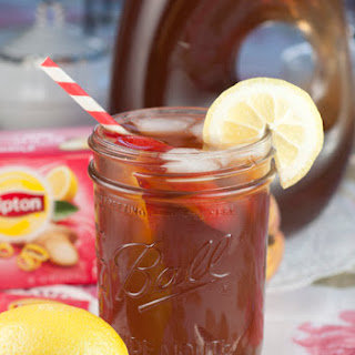 Peach Sweet Iced Tea and an Afternoon Tea Party