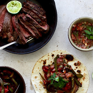 Healthy Steak Fajitas With Charred Capsicum And Fresh Salsa