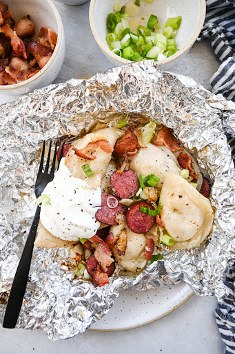 Sausage Perogy Foil Packets