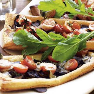 Mushroom, Tomato and Parmesan Tarts.