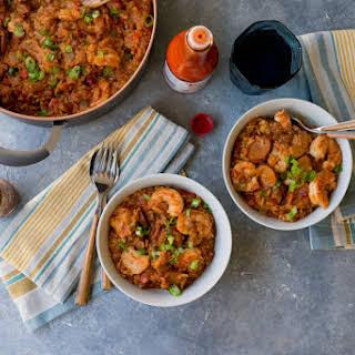 Chicken, Shrimp and Andouille Sausage Jambalaya.