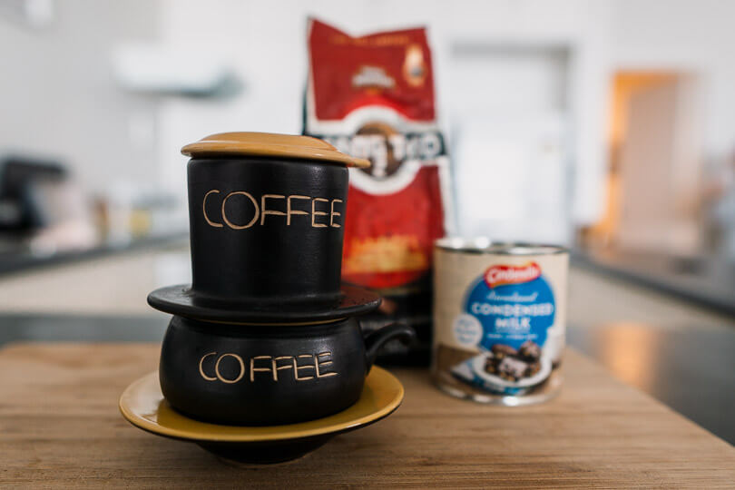Vietnamese phin coffee filter.