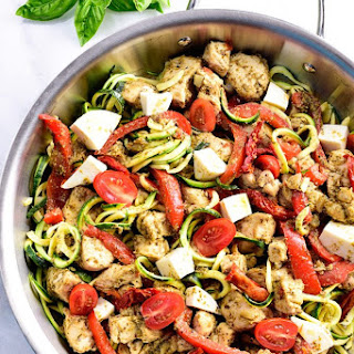 One Pan Pesto Chicken.