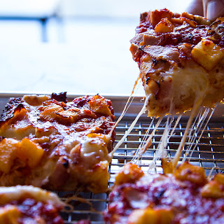 Detroit-Style Hawaiian Pizza